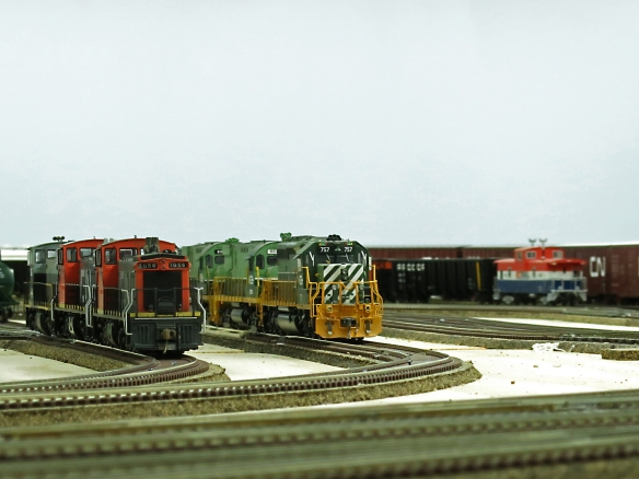 UNITS AT CHETWYND SERVICE TRACKS